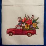 retro flower truck